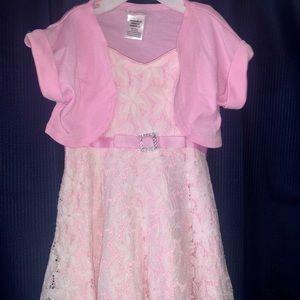 Pink Sleeveless Little Girls Dress